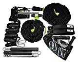 Schlingentrainer | Rip Trainer | Sprint Trainer Komplett Set | Functional Training Kit von BodyCROSS | Widerstandsbänder | Springseil | Trainingsplan | Übungsposter | Made in Germany | TABATA Trainings Musik CD