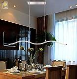 MSTAR LED Pendelleuchte Moderne Hängelampe Höhenverstellbar aus Metall Alu Pendellampe für Esstisch Küche Esszimmer Wohnzimmer Satiniert