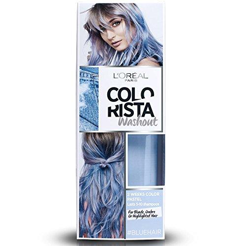 L'Oréal Paris Colorista Washout Pastel, Colorazione Temporanea 2 Settimane, 80 ml, Blu Pastello (Blue)