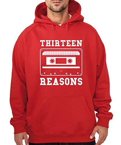 -- Thirteen Reasons -- Boys Kapuzenpullover Rot