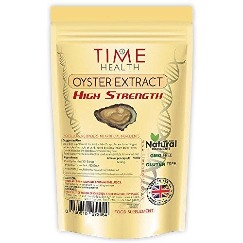 Austern Extrakt Kapseln - Testosteron-Booster, Libido-Booster, reines Austernfleisch hoch konzentrierter Extrakt - Reich an natürlichem Taurin und Zink - Ohne Zusätze (120 Kapseln pro Beutel)