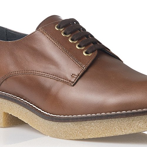 Laura Moretti - Braune Oxford Schuhe Leather