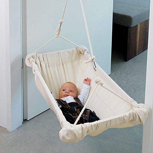 Baby-Wiege aus Baumwolle, L88 x B40 x H30 cm, Belastbarkeit max. 15 kg, TÜV+GS geprüft