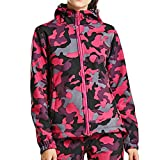 Jaminy Damen sportliche Sweatjacke Trainings-/ Laufjacke Damen Sweatjacke Kapuzenjacke Sweatshirt M-3XL (Hot Pink, 3XL)
