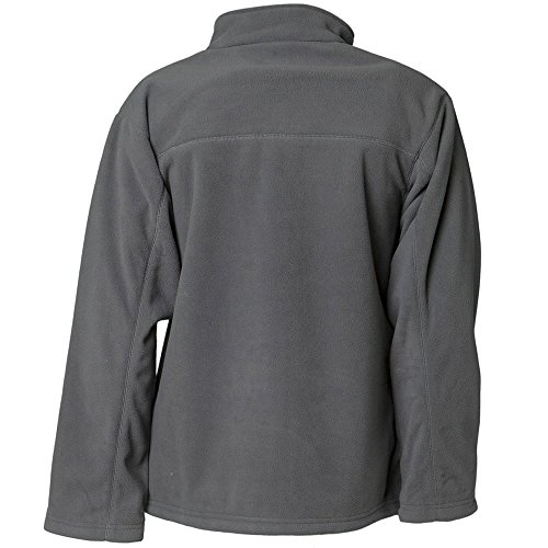 Planam Veste polaire style rétro Noir gris