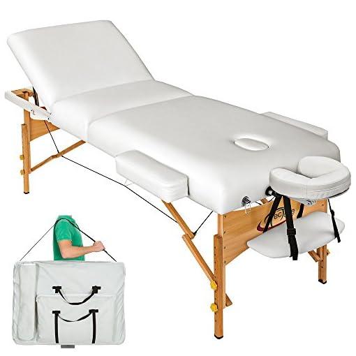 Lettino Per Massaggio Portatile In Alluminio.Tectake Lettino Massaggi 10cm Imbottitura Estetista Massaggio