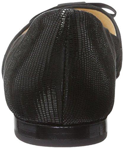 Caprice 22111, Ballerines Femme Noir (Black Reptile)