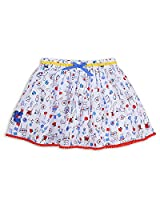 The Essential One - Girls Kids Printed Skirt - Blinky Bunny - 4-5 Yrs - White - EOT279