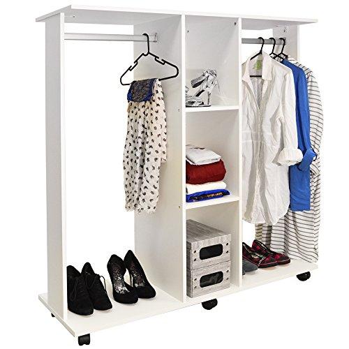 WATSONS MOBILE - Apri doppio guardaroba/Abbigliamento appendiabiti - Bianco
