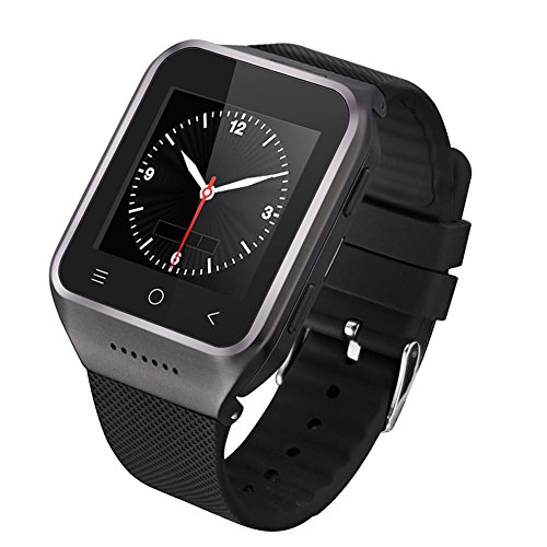 Rrimin Dual Core 3G 3.0MP Camera Wi-Fi Bluetooth 4.0 Smart Phone Watch(Black)