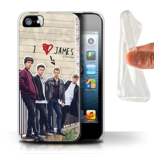 Offiziell The Vamps Hülle / Gel TPU Case für Apple iPhone 5/5S / Pack 5pcs Muster / The Vamps Geheimes Tagebuch Kollektion James