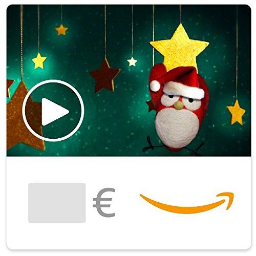 Digitaler Amazon.de Gutschein mit Animation (Weihnachtsvogel) [American Greetings]