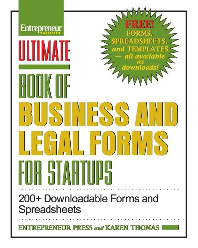 Buy PDF Ultimate Book Of Business And Legal Forms For Startups - Where to buy legal forms