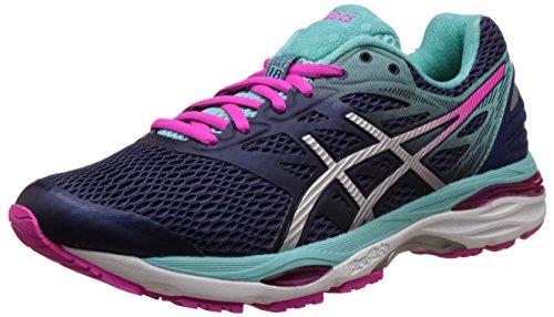 Asics Women'S Gel-Cumulus 18 Indigo Blue, Silver and Pink Glow Running Shoes -7 UK/India (40.5 EU)(9 US)