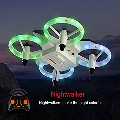 MuSheng TM JJRC XXD158 Cool Light 2.4G 6-Axis Gyroscope Headless Mode Mini RC Quadcopter Drone Toy Gift For Kids from MuSheng