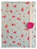 Custodia Kindle Paperwhite Standard eReader Fantasia con Rose Blu stile Vintage / Borsa / Astuccio / Porta Kindle