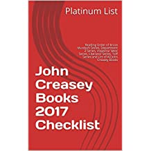 John Creasey Books 2017 Checklist: Reading Order of Bruce Murdoch Series, Department Z Series, Inspector West Series, Liberator Series, Toff Series and List of All John Creasey Books
