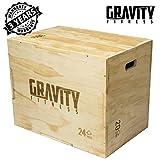 Gravità Fitness 3in 176,2x 50,8x 61cm pliometrici, Jump Box Plyo Box, Crossfit