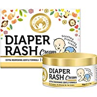 Mom & World Baby Diaper Rash Cream 50g - With Zinc Oxide, Shea Butter, Argan Oil, Aloevera