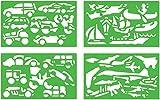 *Quercetti - 2604 Gioco Stencils Vehicles