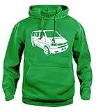 Herren Damen Kapuzenpullover VW T4 Campervan Retro Van Kapuzenpullover, XS-XXL Gr. Large, grün