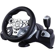 Volant de course avec pédales PC PS2 PS3 USB gaz frein pédales Vibration Feedba