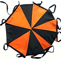18 mtrs / 60 flags orange and black Halloween fabric bunting/banner / garland