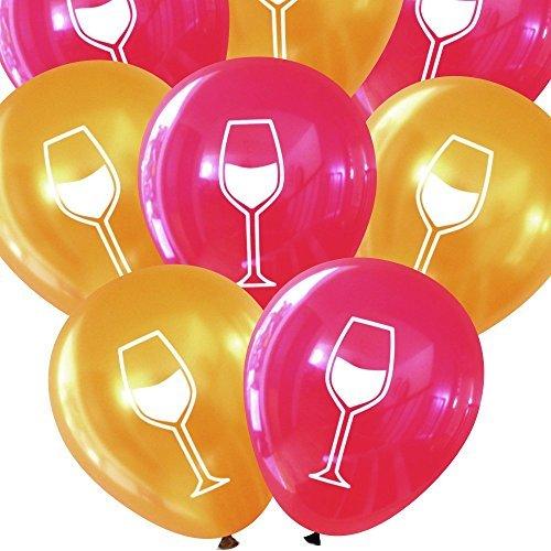 Wein Glas Luftballons (16PCS) von nerdigen Worte Burgundy & Gold