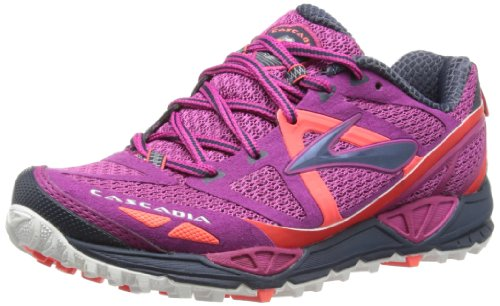 Brooks Cascadia 9 Women - Zapatos para correr para mujer, Festival FuschiMidnight/Fiery Coral, EU 37 (UK 4)