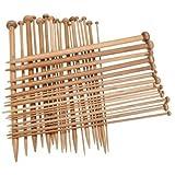 36 Pz 18 Dimensioni 25Cm Carbonizzato Di Bambù Singolo Sottolineato Uncinetto Ferri Da Maglia