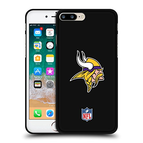 Head Case Designs Offizielle NFL Einfarbig Minnesota Vikings Logo 2 Schwarze Soft Gel Huelle kompatibel mit iPhone 7 Plus/iPhone 8 Plus
