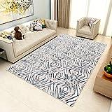 GUO-YANGH Teppich - geometrische abstrakte Schlafzimmer Couchtisch Teppich Hause Wohnzimmer rechteckigen Teppich-3_120 * 160cm