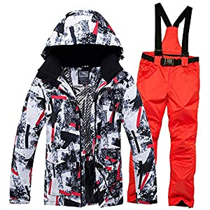 ZLULU Skianzüge Winter Skianzug Männer Schnee Skifahren Männliche Kleidung Im Freien Thermische Wasserdichte Winddicht Snowboard Jacken Und Hosen