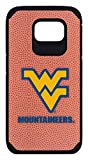 West Virginia Mountaineers Classic Football Pebble Grain Feel Samsung Galaxy S6 Case,One Size,Brown