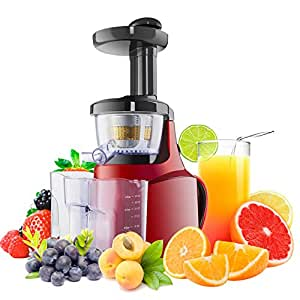 Slow Juicer With Salad Maker : Slow Juicer Whole Fruit Juicers Red Smoothie Makers: Amazon.co.uk: Kitchen & Home