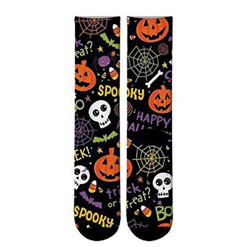 1 Paar Lange 3D-Druck Halloween Herren Crew Socken Funny Skeleton Happy Long Socks Skull Socks ()