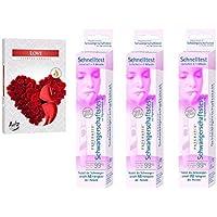 Preisvergleich für Pregnafix Schwangerschaftsschnelltest 901 (3 Stück) plus 6er Pack Teelichter Duft Liebe