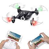 Mini Micro Drone Piccolo con Telecamera FPV Syma X21W Telecomandato Quadricottero Droni per Bambini con 2.4Ghz Gyro a 6 assi, Modalità Senza Testa, Rotazione 360(Nero)