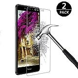 [2-Pack] Nazzamo Protecteur D'écran Verre Trempé pour Huawei Honor 6X, Verre Trempé écran Protecteur, Facile à Appliquer Sans Bulles d'air, Haute Transparence [résistant aux rayures]