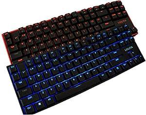 Noppoo Lolita 87 USB NKRO Gaming Keyboard Mécanique avec LED Rétroéclairage (Rétroéclairage cerclées de noir, interrupteurs rouges)