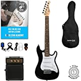 Stretton Payne 1/2 Size Electric Guitar with practice amplifier, padded bag, strap, lead