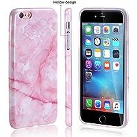"""Funda iPhone 6/6S Plus Mármol silicone Cáscara blanda DECHYI TPU silicone Y IMD Diseño Mármol Serie Funda Bumper para iPhone 6/6S Plus(5.5"""") Plus -Polvo"""