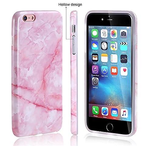 iPhone 6/6S hülle marmor rosa Weiche silicone handy-hülle Pulver Muster DECHYI flexibel TPU silicone Und IMD Entwurf Marmor Serie für iPhone 6/6S