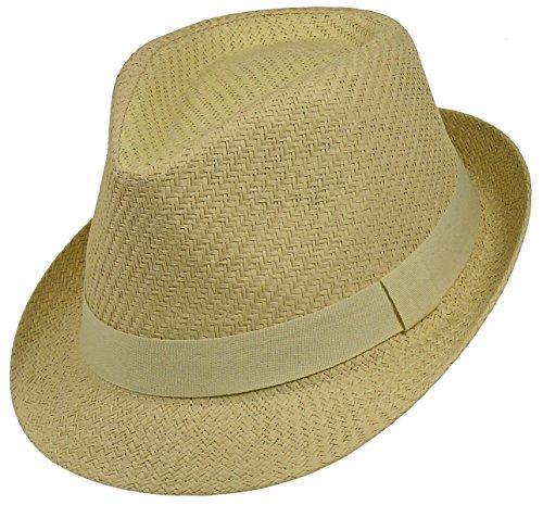 Chapeau trilby chapeau en 3 couleurs Beige - Hellbeige