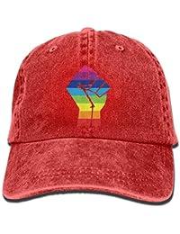 Ejdkdo Cappello da Cowboy Unisex in Organza con bandierina Rainbow Prisma  LGBT Personalizzato per Uomo e e246128ac327
