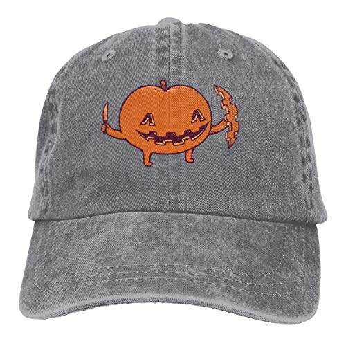 deyhfef Halloween Kürbis Unisex Washed einstellbare Cowboyhut Denim Baseballmützen Fashion13