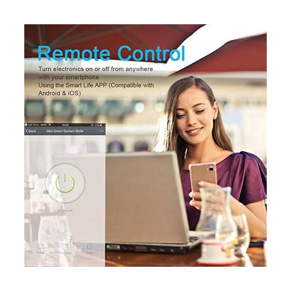 Presa-Intelligente-Wifi-Compatibile-con-Alexa-Echo-Google-Home-e-IFTTT-SLITINTO-Mini-Smart-Plug-con-App-Controllo-Remoto-TemporizzazioneMonitor-Energetico-Non–Necessario-Hub-16A-2-Pcs