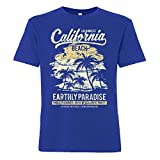ShirtWorld California Beach - Herren T-Shirt Blau M