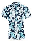 Idgreatim Teenagers Boy Tropical Camicie Camicie Stampato Abbottonatura Fresco Progettato Abbigliamento da Escursionismo Camicie da Uomo