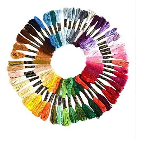 50UNIDs Fäden bunt Traditionelle die gesamte Farbspektrum für Nähen, Sticken, hochwertige Kugelschreiber Magico Needle Punching Krativen Kreationen diese Fäden von chipyhome